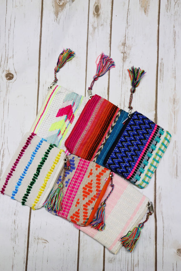Sweet Serape Coin Pouches [Assorted Colors]