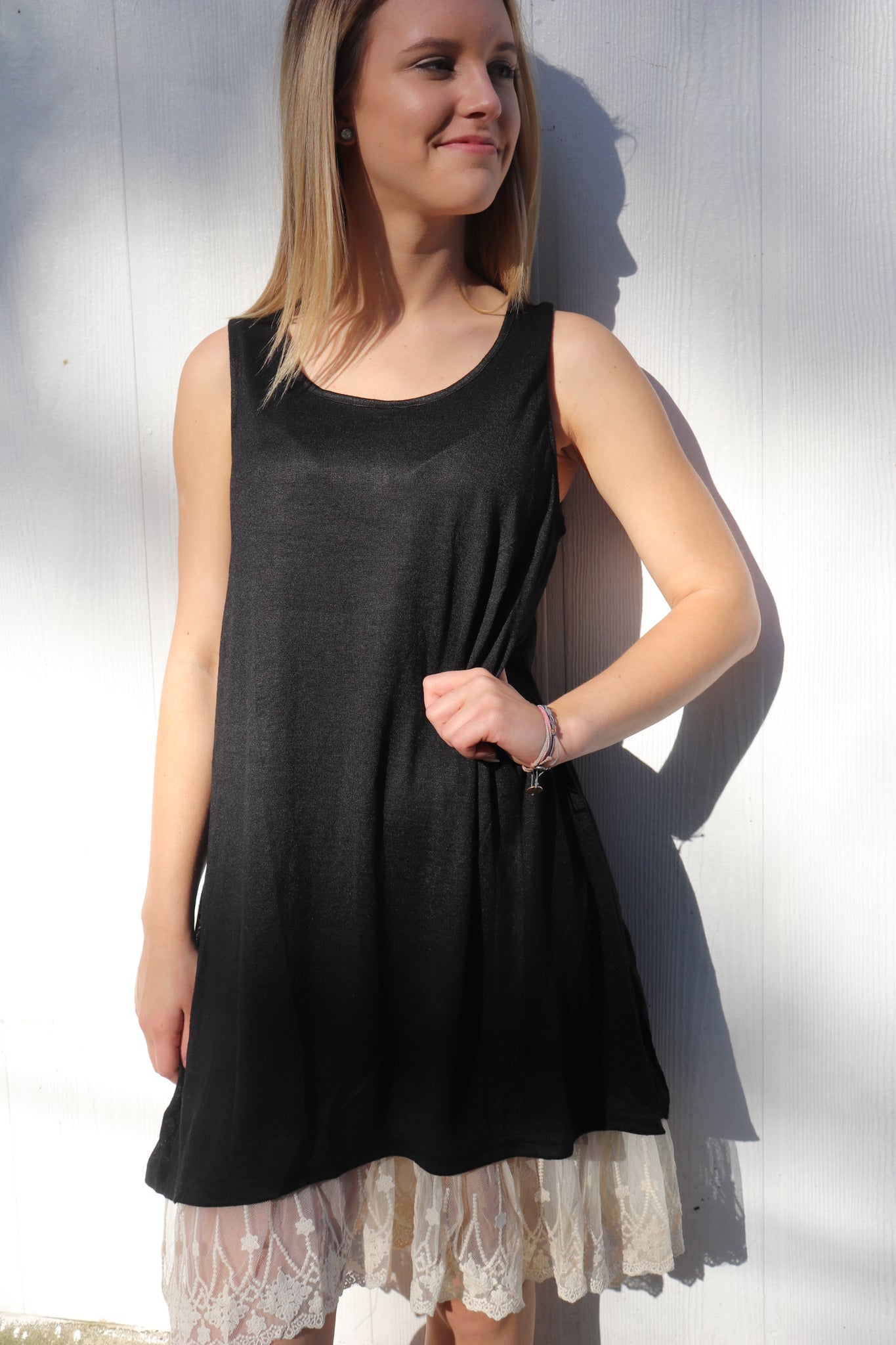 Last Call Lily Lace Edge Dress Black Sweet Texas Treasures