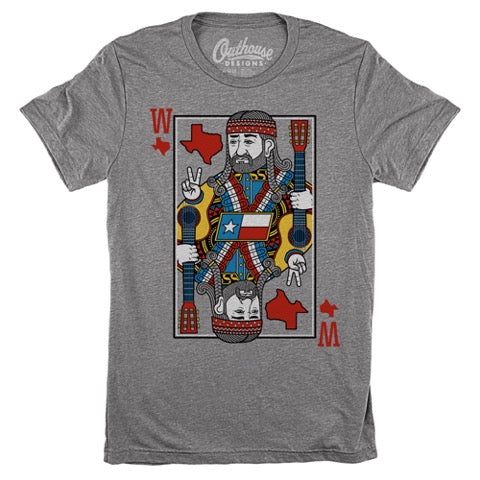 Let us help you play your cards right in this one of a kind tee. One of our newest and favorite graphic tees featuring the King of Texas himself! Perfect for the guys or gals, screen printed on the softest unisex tee. Style Suggestion: Pair with any of our flare jeans, tucked in with a vintage belt from our vintage collection for an effortless southern stylish look.  Size Suggestion: Small (2-4), Medium (6-8), Large (10-12), XL (14-16), 2XL (18-20)