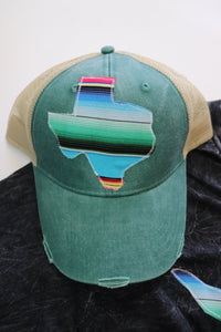 Agave Blue Serape Trucker Hat