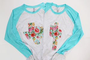 Tiffany Floral Baseball Tee