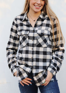 Bryson Buffalo Plaid Button Up [White]