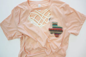 Desert Peach Key Hole Tee