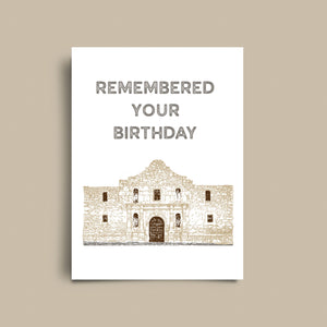 Alamo Birthday Card