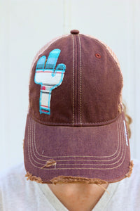 Dulce Serape Dirty Trucker Hat