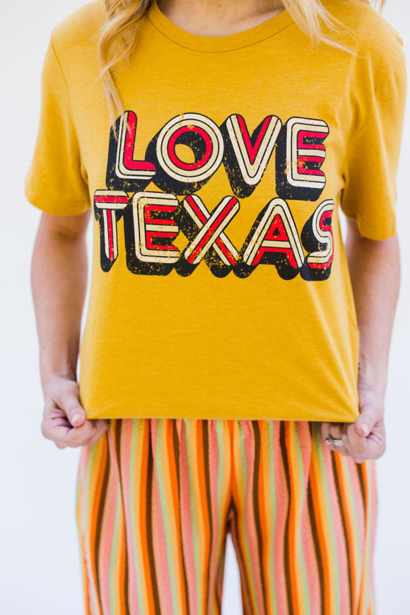 Love Texas Retro Tee