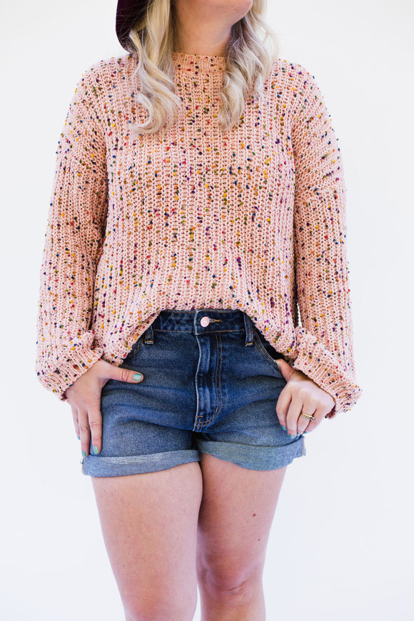 Stanton Rainbow Speckled Pullover Sweater