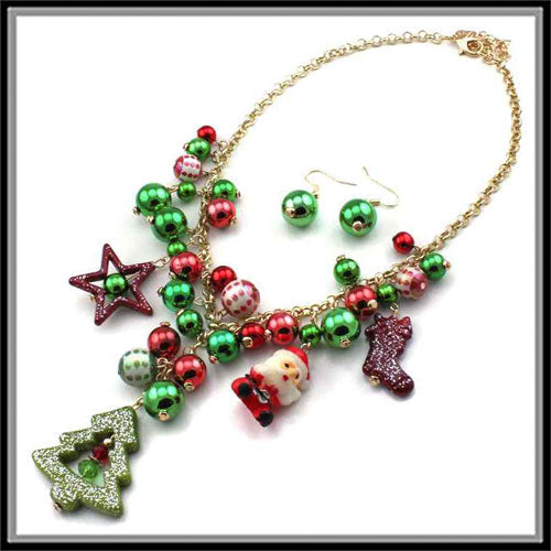 Last Call Oh Christmas Tree Necklace Set
