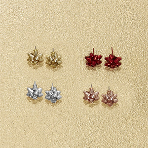 Gift Bow Stud Earrings [4 Colors]