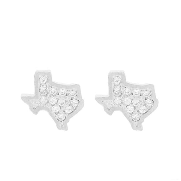 Mini Texas Rhinestone Earrings [2 Colors]