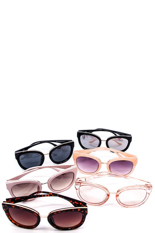 Golden Cat Eye Sunglasses [5 Colors]