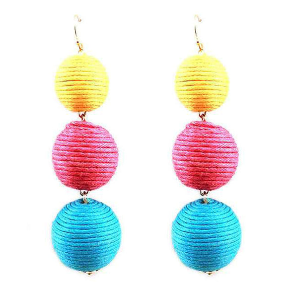 Last Call Triple Drop Woven Earrings