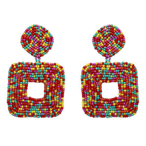 Chiquita Cut-out Square Earrings