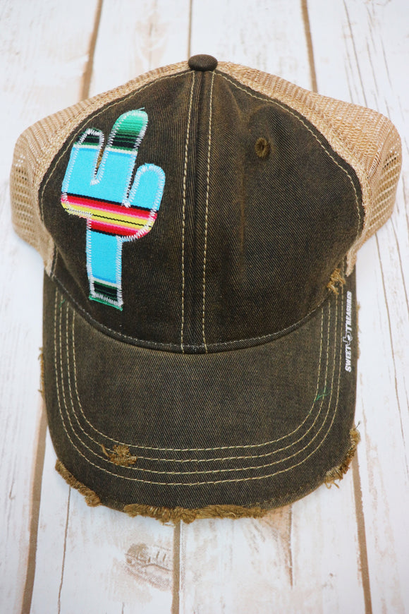 Agave Blue Dirty Trucker Hat