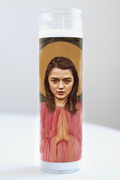 Arya Stark Celebrity Saint Candle