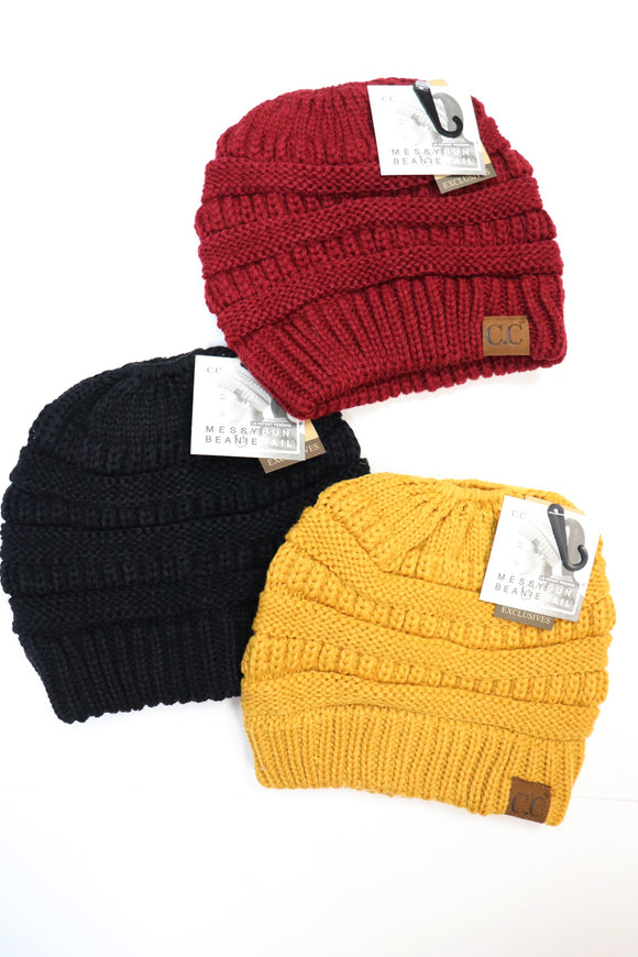 CC Bun Beanie [All Colors]