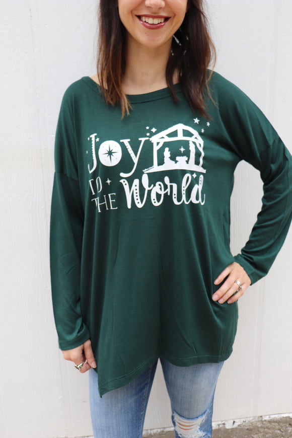 Last Call Joy to the World Long Sleeve Tee