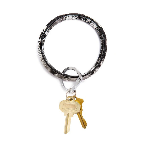 Big O Leather Key Ring Bracelet [Snakeskin]