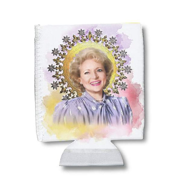 Betty White Watercolor Can Holder