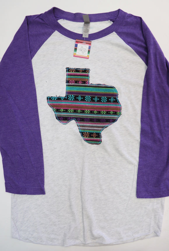 Luna Serape Purple Baseball Tee