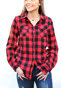 Bryson Buffalo Plaid Button Up [Red]