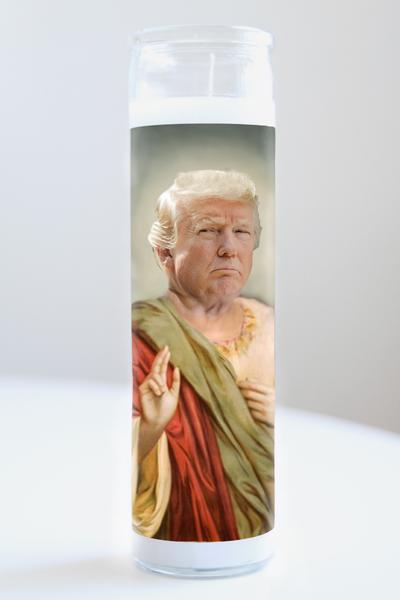 Sad Donald Trump Celebrity Saint Candle