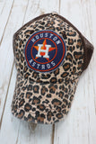 Houston Astros Leopard Trucker Hat