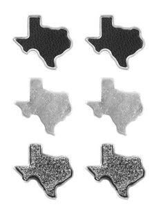 Sweet Texas Stud Earring Set [Black]