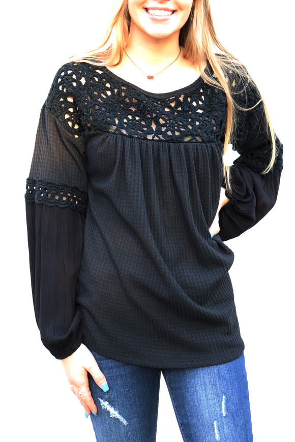 Callisburg Crochet Knit Top