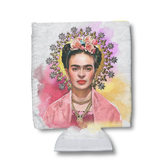 Frida Kahlo Watercolor Can Holder