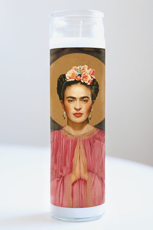 Frida Kahlo Celebrity Saint Candle