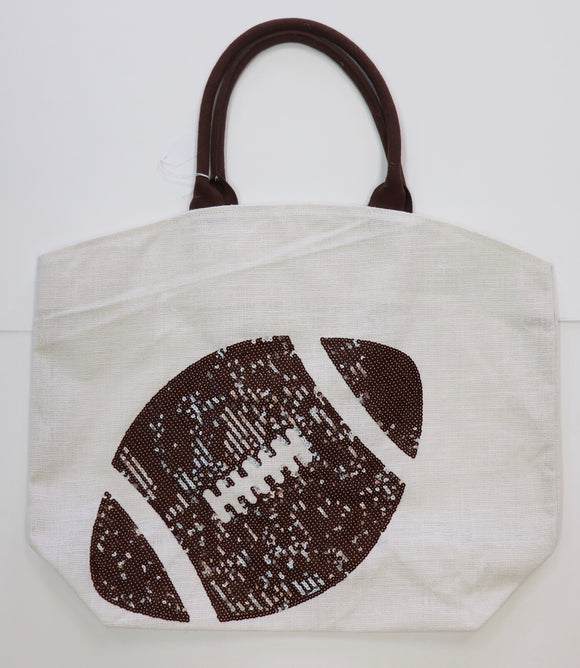 Oversized Football Tote