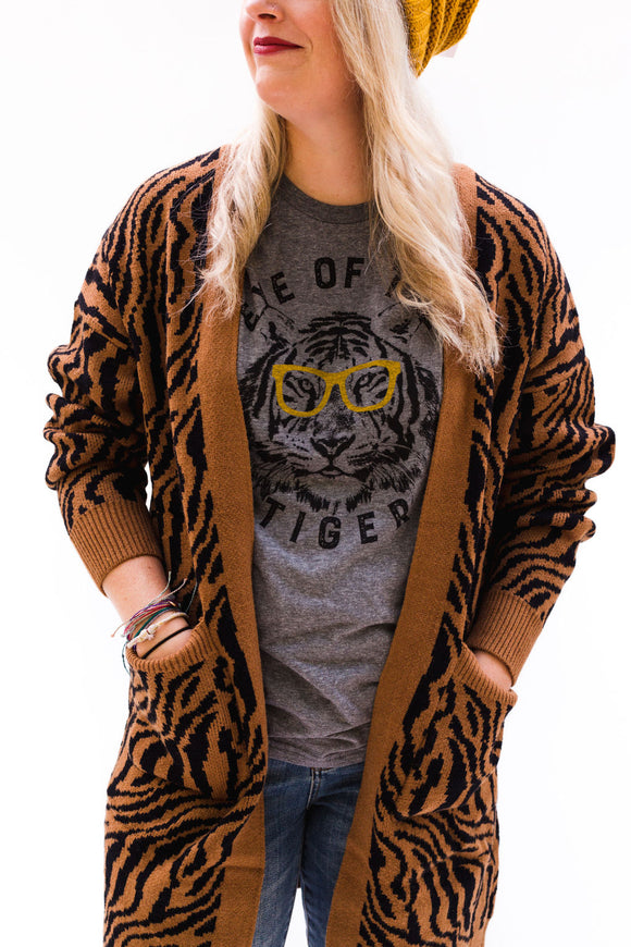 Conroe Tigers Duster Cardigan