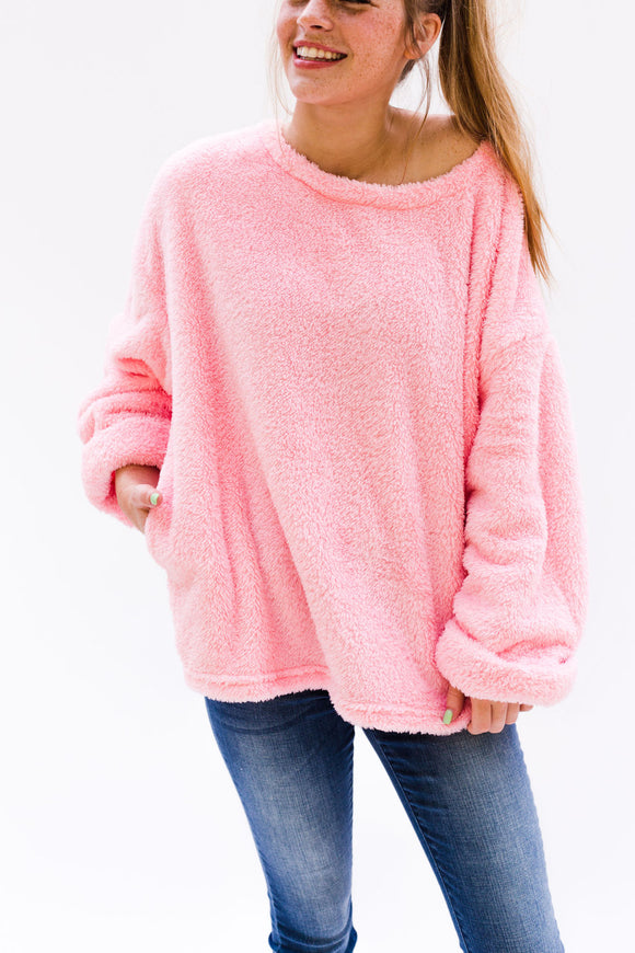 Ingram Fuzzy Sweater [Pink]