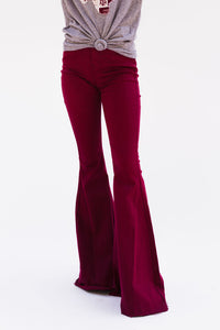 Game Day Flare Jeans [Maroon]