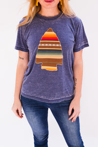 Sol Serape Acid Wash Tee