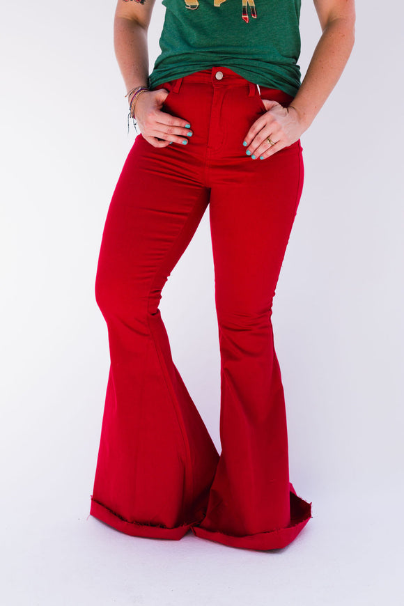 Game Day Flare Jeans [Red]