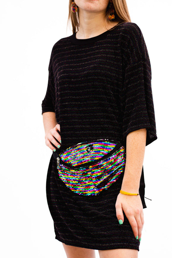 Multi Color Sequin Fanny Pack