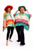 Denham Dip Dye Poncho [Orange]