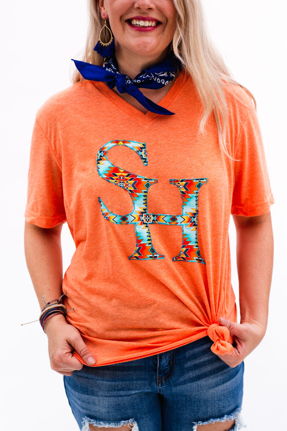 Sam Houston Gameday V-Neck Tee [Orange]