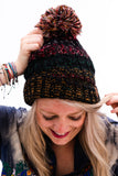 Last Call Fuzzy Lined Multi Knit Poof Beanie [All Colors]