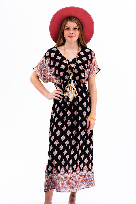 Blackwell Border Printed Maxi Dress