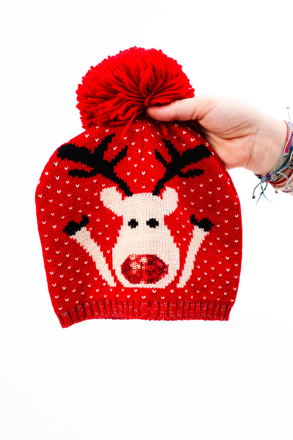Rudolph The Red Nose Beanie