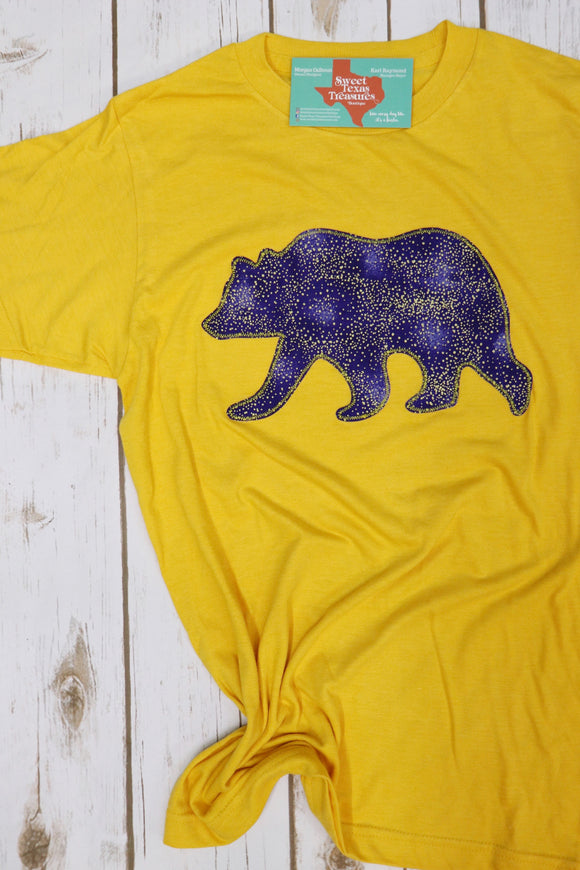 Bears Gold Fleck Game Day Tee