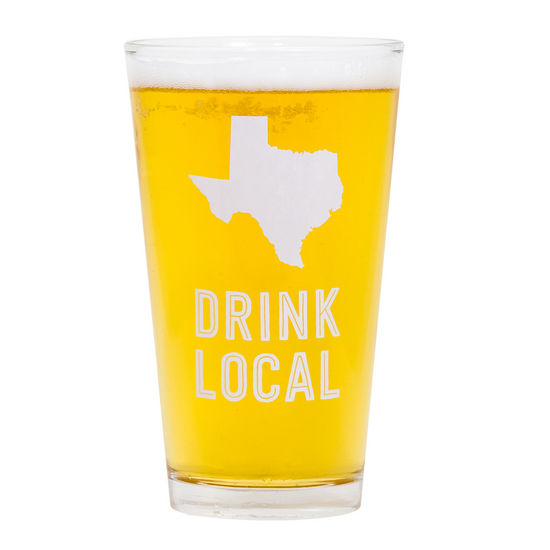 Last Call Drink Local Pint Glass