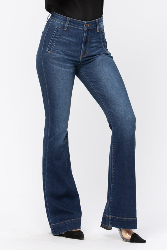 Queen Size Two-Step Trouser Jeans
