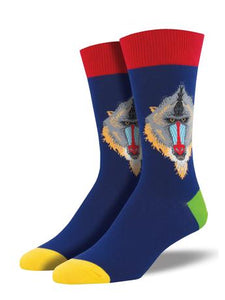 Mind Your Mandrills Men's Socks