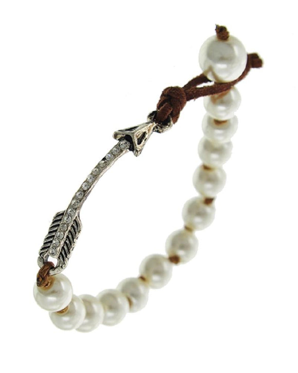 Pearl Arrow Bracelet