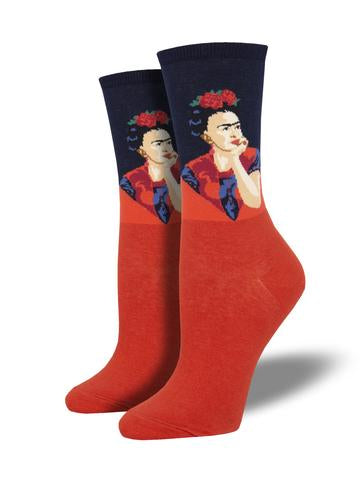 Pensive Frida Women's Socks [2 Colors]