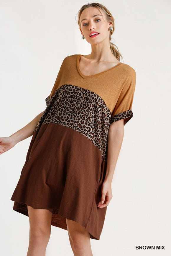 Queen Size Wild Safari T-Shirt Dress
